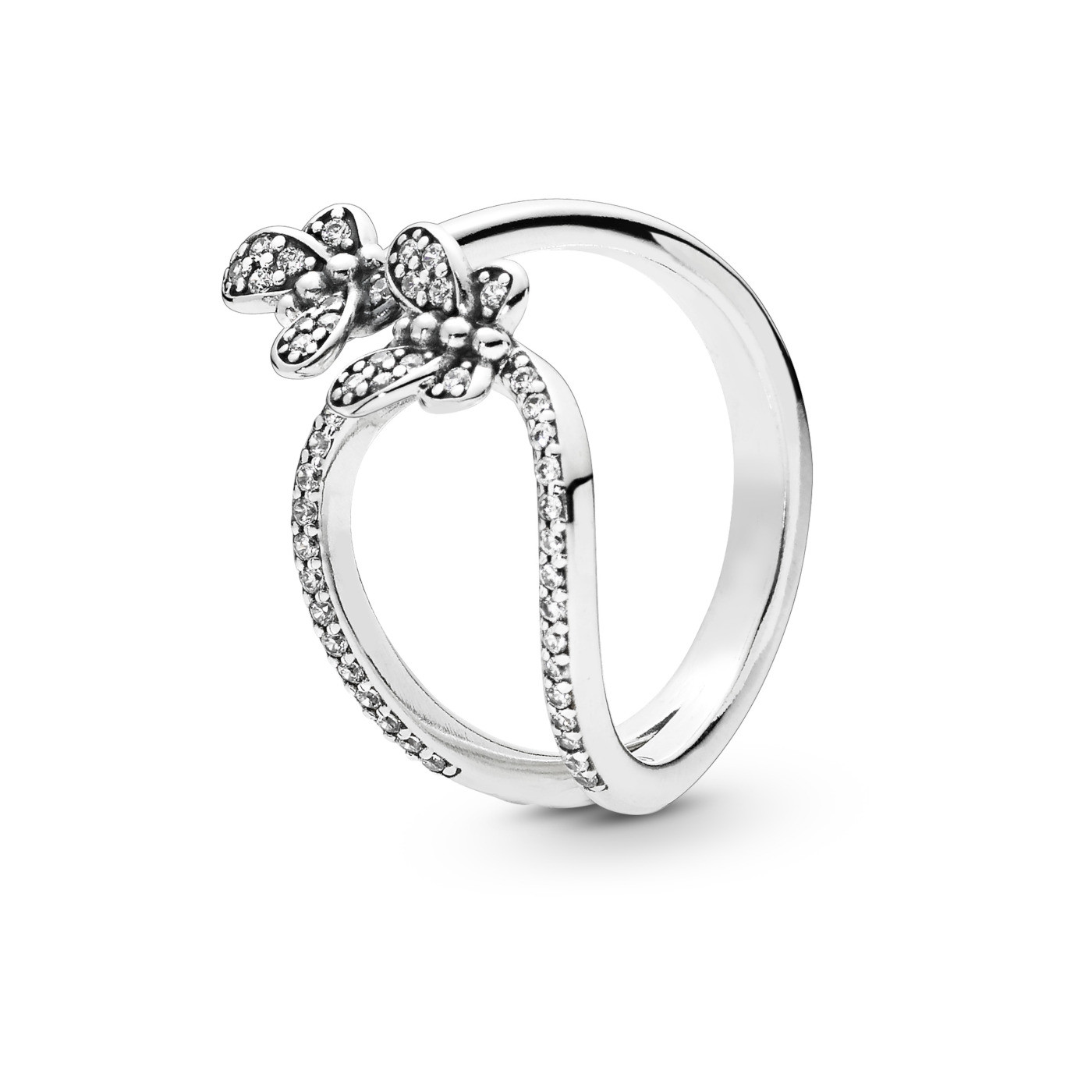 Pandora Stories 925 Sterling Zilveren Butterfly Ring 197920CZ