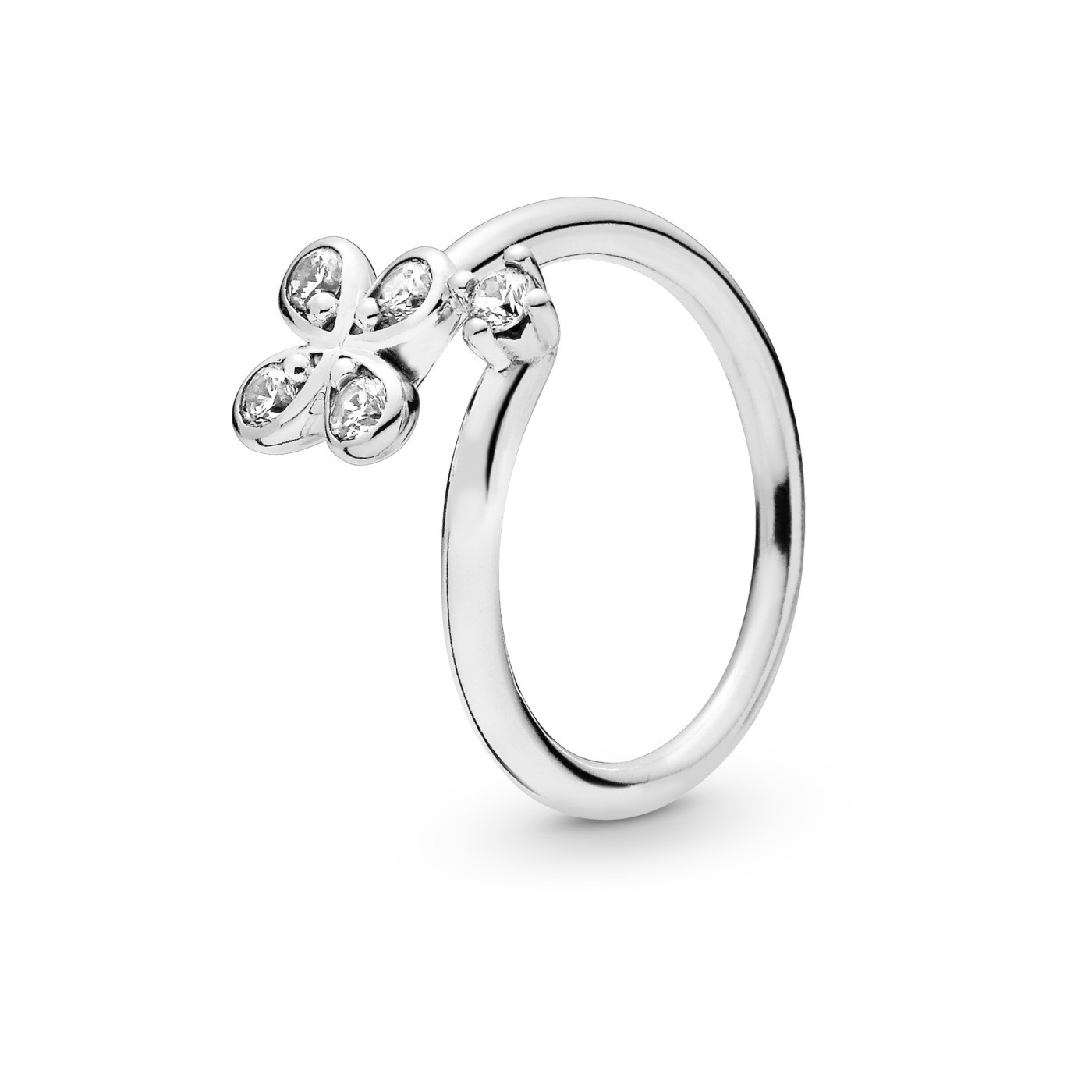 Pandora Stories 925 Sterling Zilveren Flower Ring 197988CZ