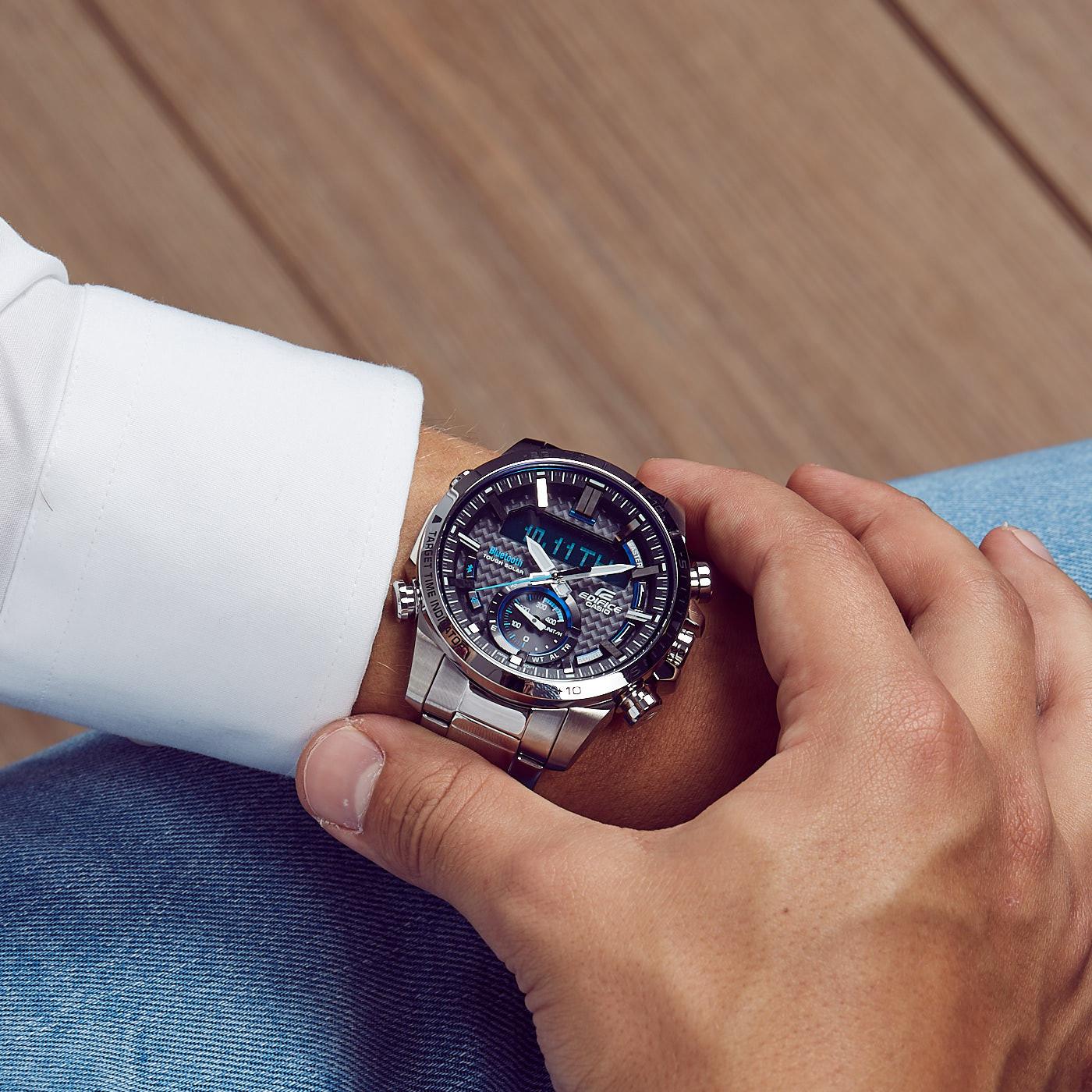 Edifice Bluetooth Connected Race Chrono horloge ECB-800D-1AEF
