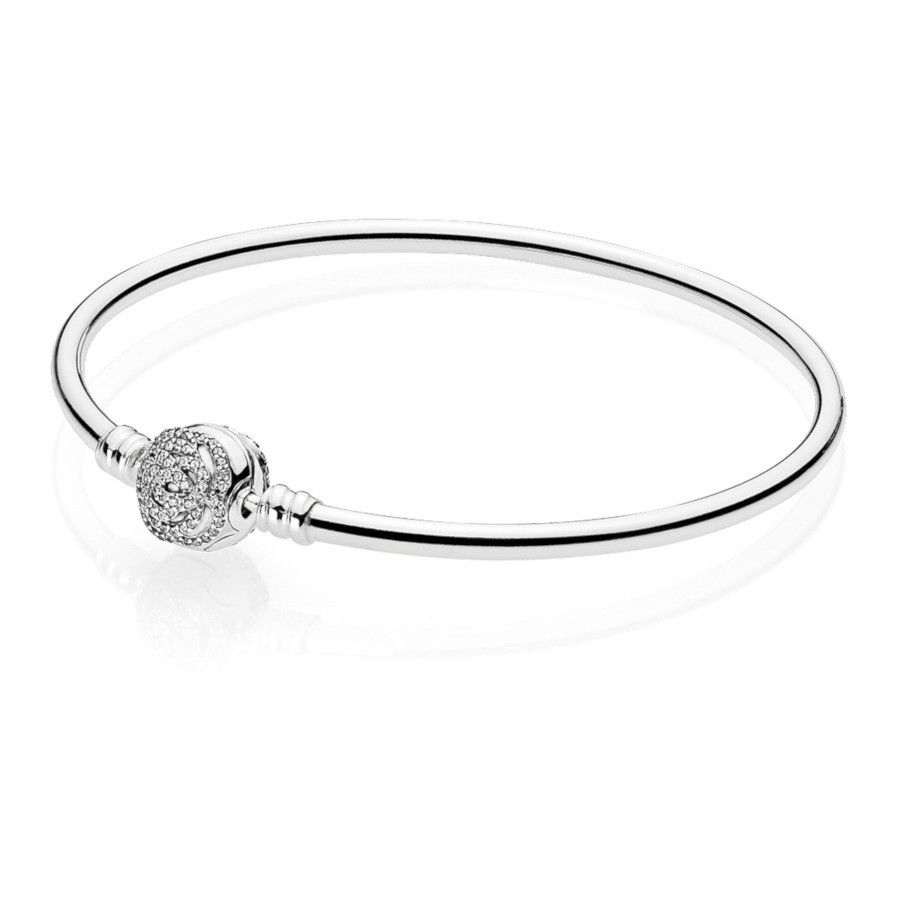 Pandora 925 Sterling Zilveren Disney Belle Armband 590748CZ (Lengte: 17.00-21.00 cm)