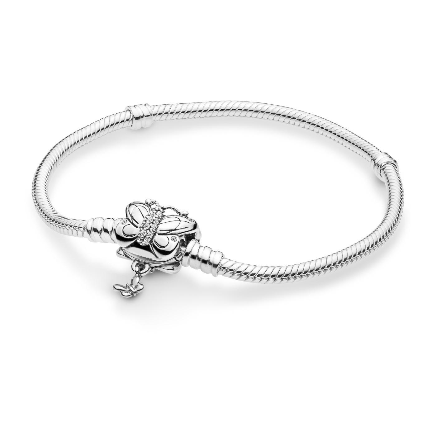 Pandora Moments 925 Sterling Zilveren Snake and Butterfly Armband 597929CZ (Lengte: 18.00-21.00 cm)