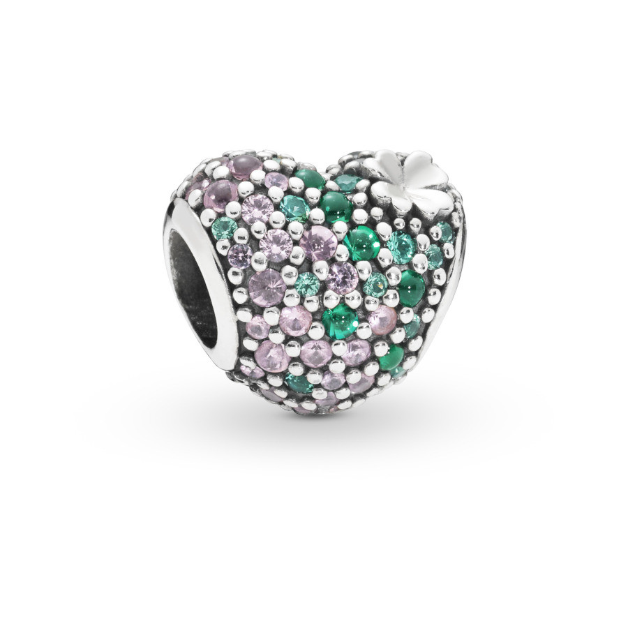 Pandora Moments 925 Sterling Zilveren Heart and Clover Bedel 797869NRGMX
