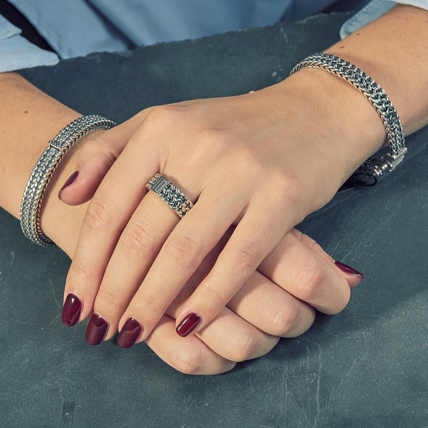 Buddha to Buddha 925 Sterling Zilveren Julius Cuff Armband 190 (Lengte: 18.00-21.00 cm)