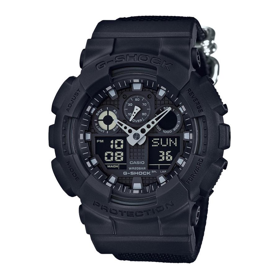 Casio G-Shock Basic Black Nato Horloge GA-100BBN-1AER