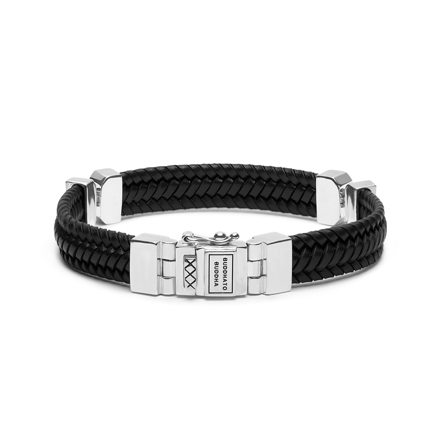 Buddha to Buddha Edwin Small Special Leather Black Armband 182BL (Lengte: 19.00-23.00 cm)