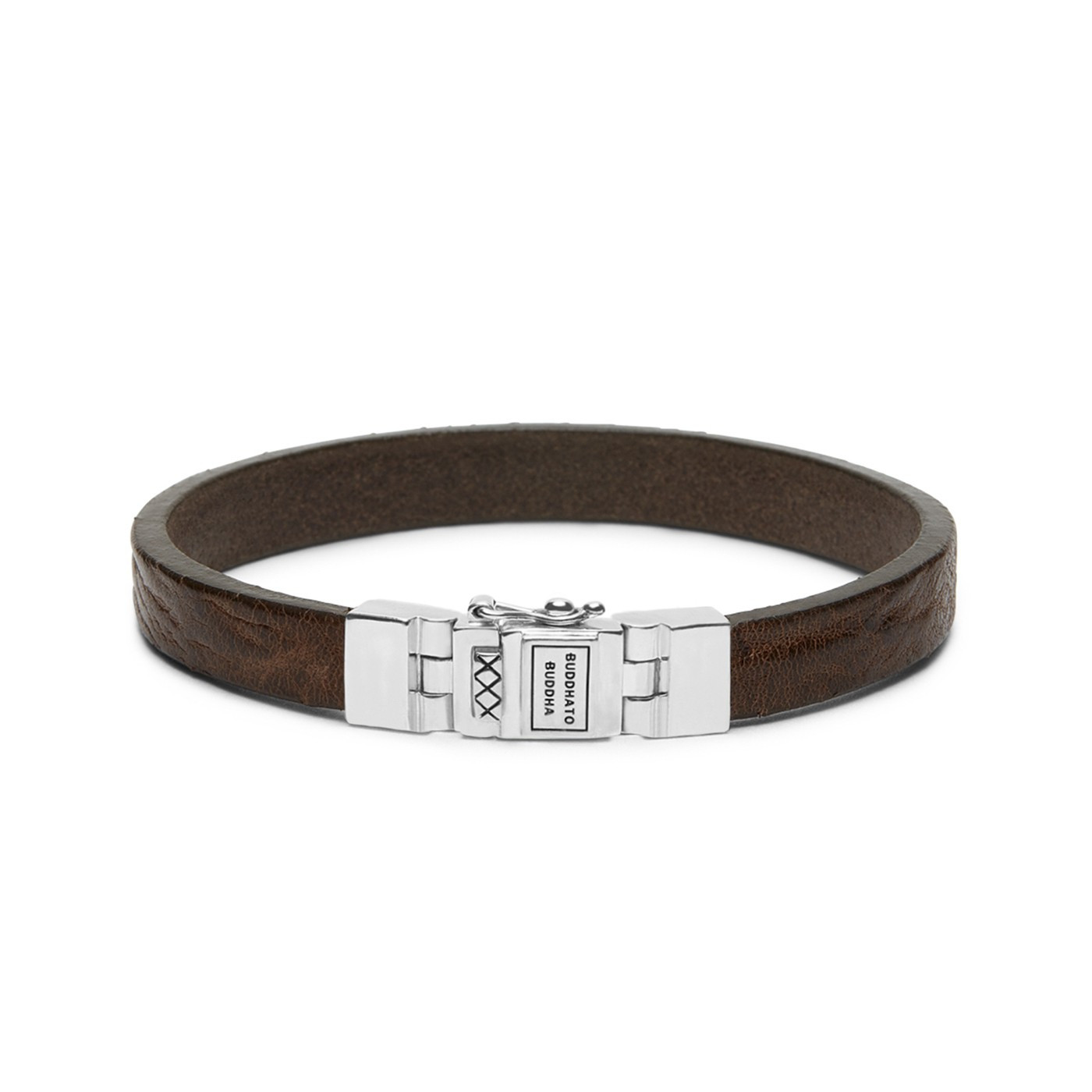 Buddha to Buddha Essential Leather Smooth Brown Armband 186BR (Lengte: 18.00-23.00 cm)