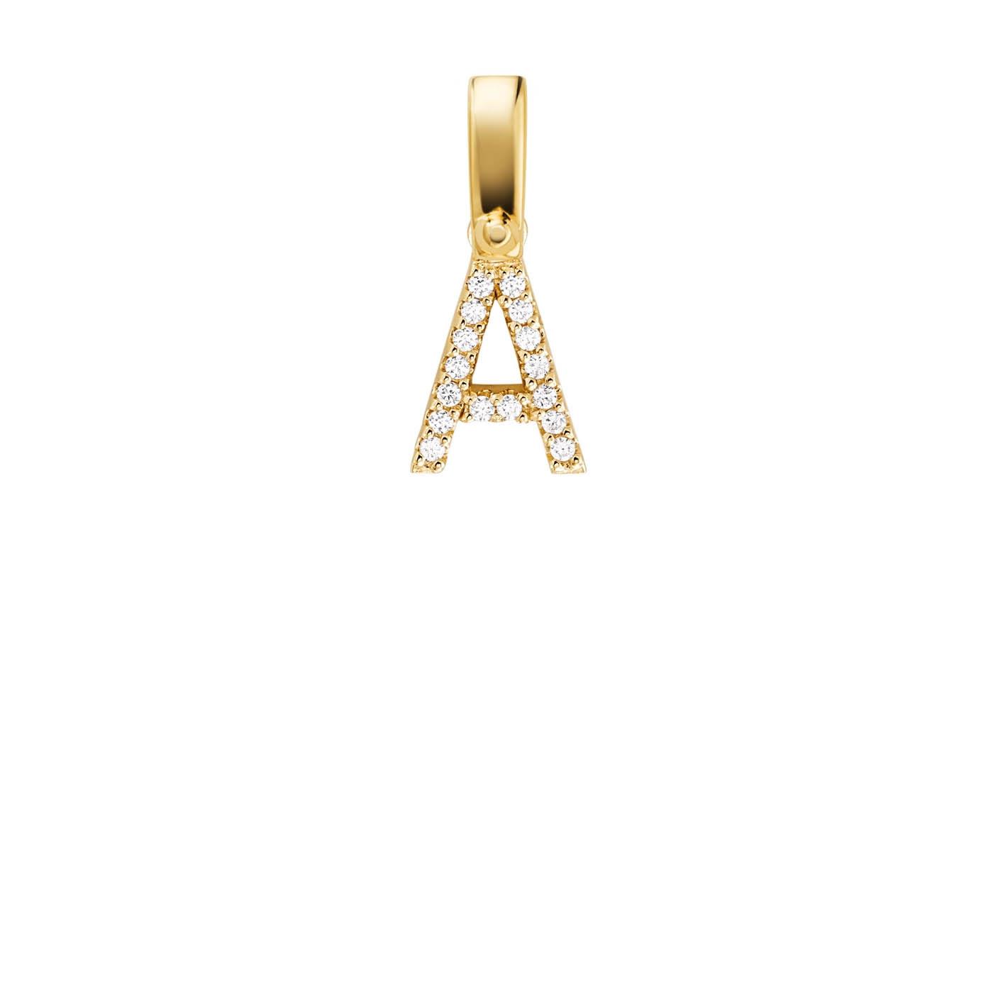Michael Kors Zilveren Goudkleurige Custom Bedel Inital (Letter: A-Z)