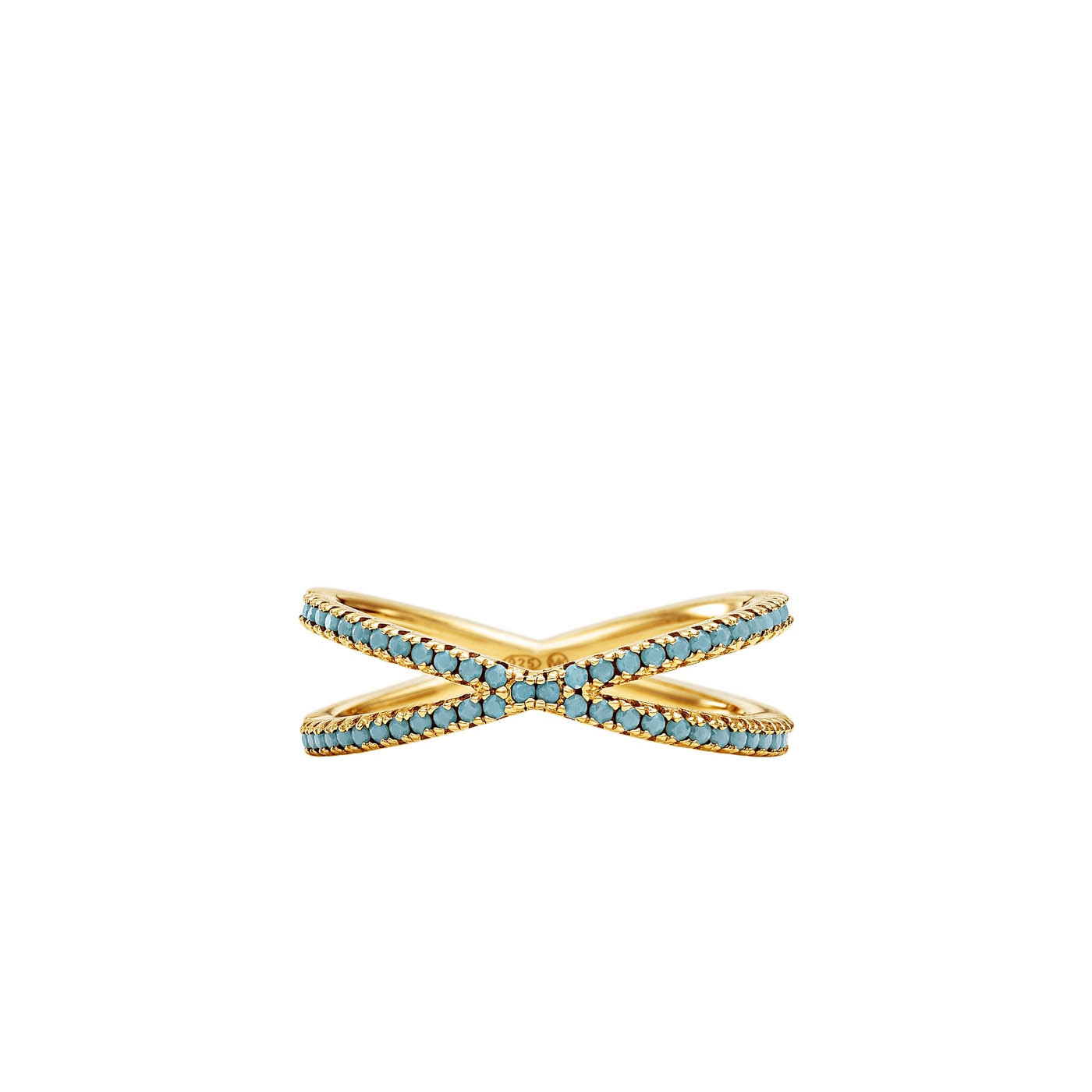 Michael Kors Zilveren Goudkleurige/Blauwe Custom Ring MKC1112AS710