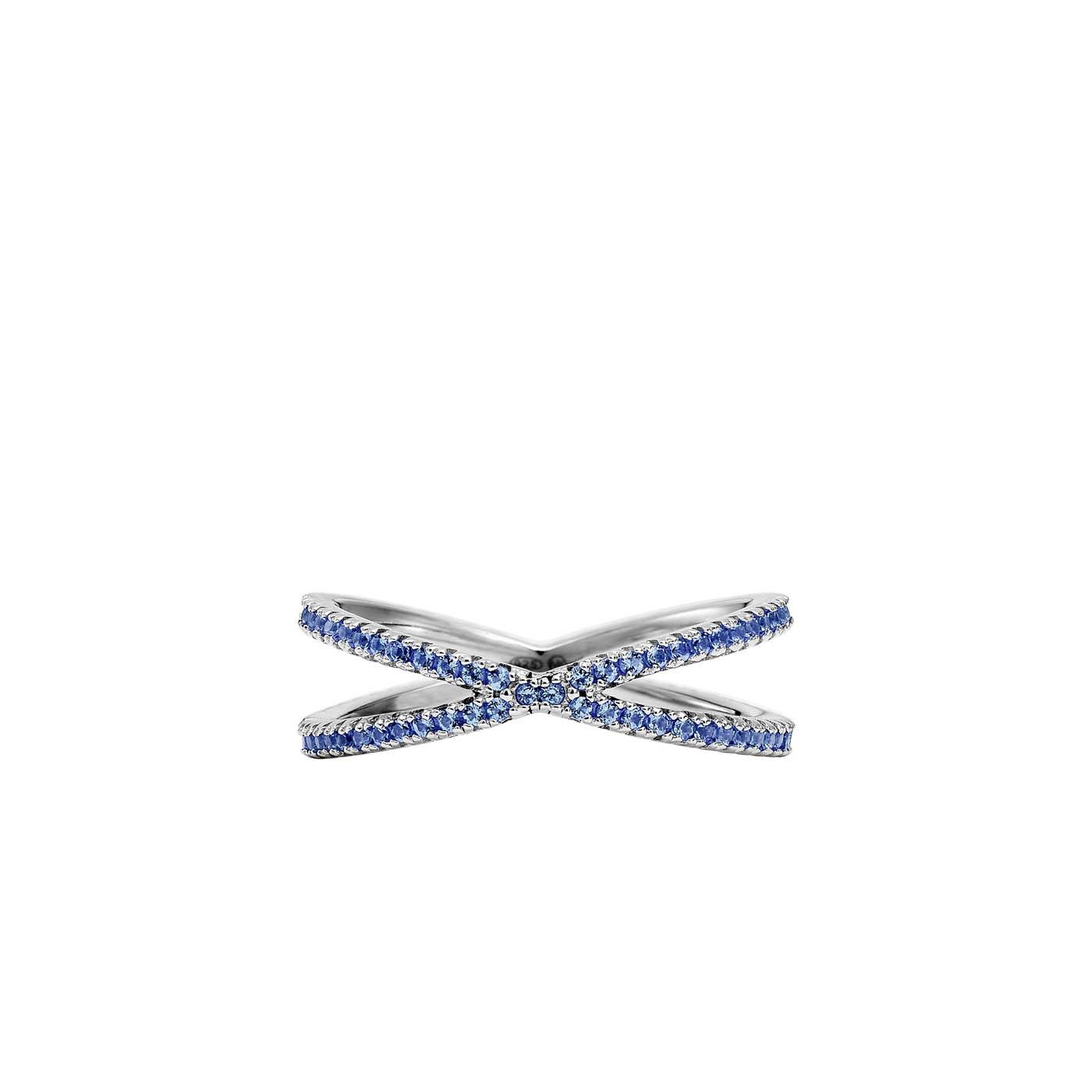 Michael Kors Zilveren Blauw Custom Ring MKC1112AT040