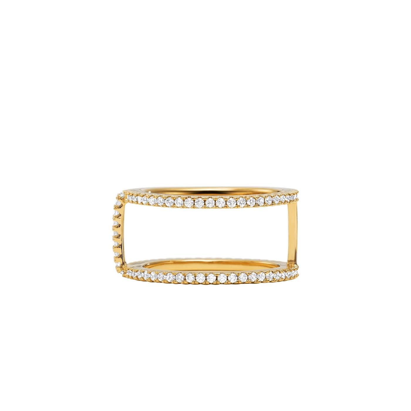Michael Kors Zilveren Goudkleurige Custom Ring MKC1113AN710