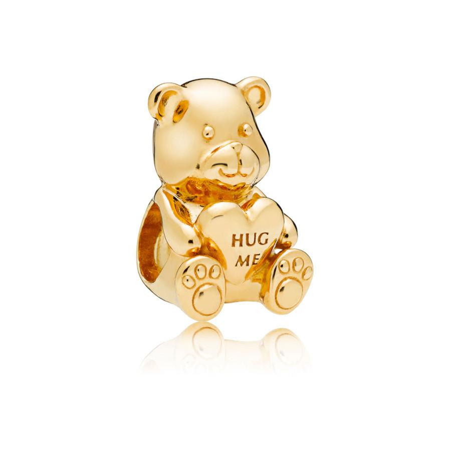 Pandora Moments 925 Sterling Zilveren Goudkleurige Theodore Bear Bedel 767236