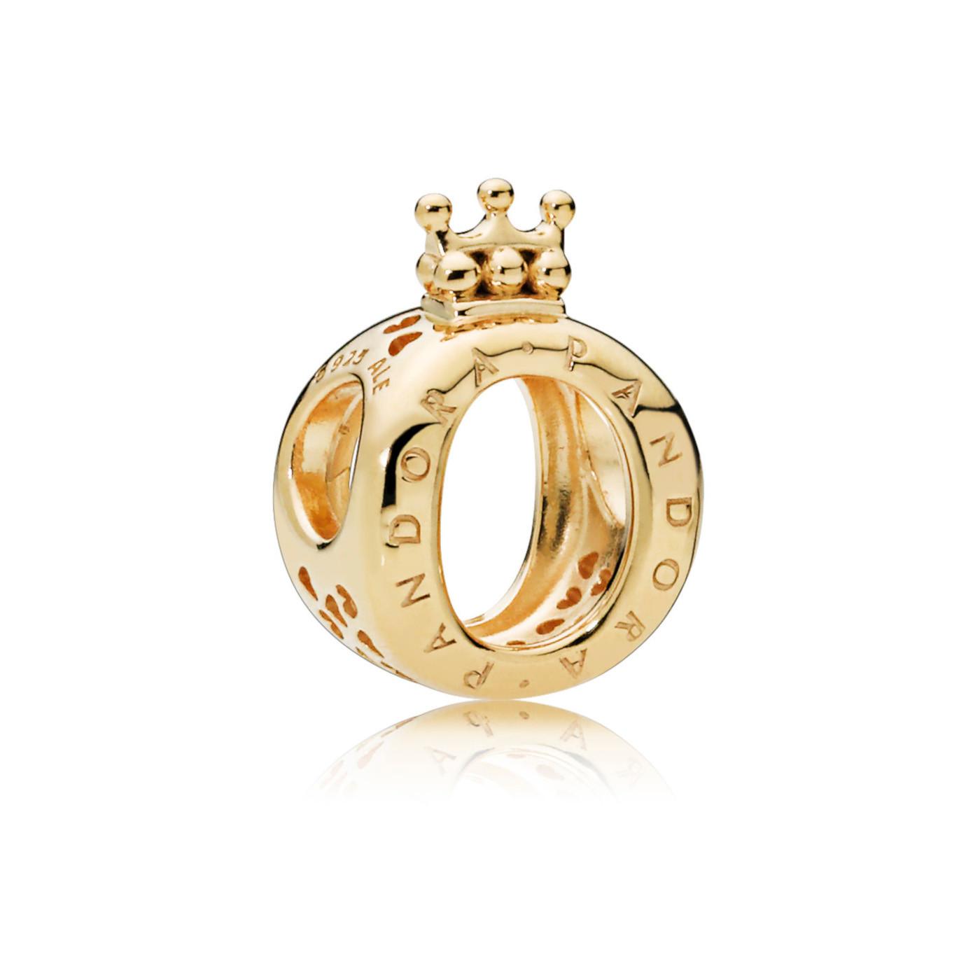 Pandora Moments 925 Sterling Zilveren Goudkleurige Shine Crown Bedel 767401