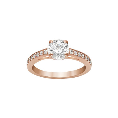 Swarovski Attract Round Ring Rose gold