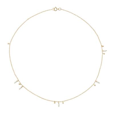 ANNA + NINA 14 Karaat Gouden Essentials Cosmic Dust Ketting 18-2M903004G (Lengte: 40.00 cm)