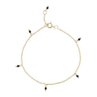 ANNA + NINA 14 Karaat Gouden Essentials Meteorite Armband 18-2M907010G (Lengte: 18.00 cm)