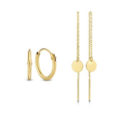 Isabel Bernard Noélle 14 Karaat Gouden Earparty Giftset IB90023