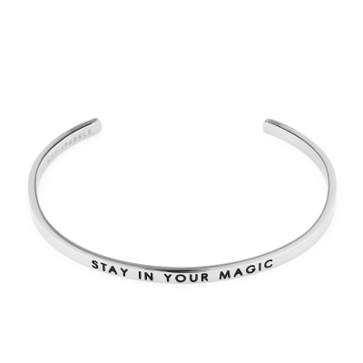 May Sparkle The Bangle Collection Magic Zilverkleurige Armband MS10011