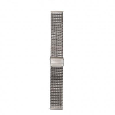 Mats Meier Mont Vélan Stalen Mesh Horlogeband 22 Mm Zilverkleurig MM40007