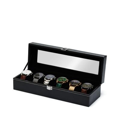 Mats Meier Mont Fort zwarte horlogebox voor 6 horloges