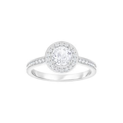 Swarovski Attract Light Round Cubic Zirkonia White Ring