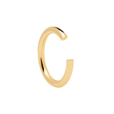 P D Paola 925 Sterling Zilveren Goudkleurige L'Esseentiel Core Ring AN01-129
