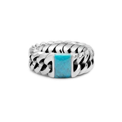 Buddha to Buddha 603TQ Chain Stone Turquoise Ring