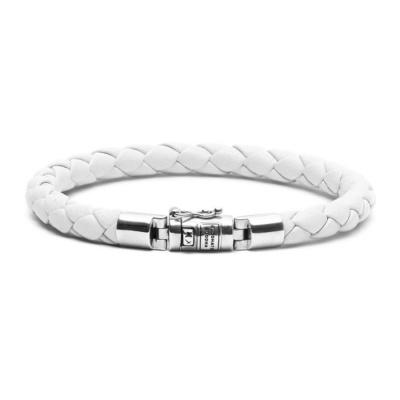 Buddha to Buddha Ben XS Round Leather White Armband BTBJ545WH (Lengte: 19.00-21.00 cm)
