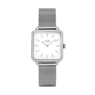 CLUSE La Tétragone Zilverkleurig Horloge CW0101207003