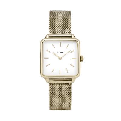 CLUSE La Tétragone Goudkleurig Horloge CW0101207002