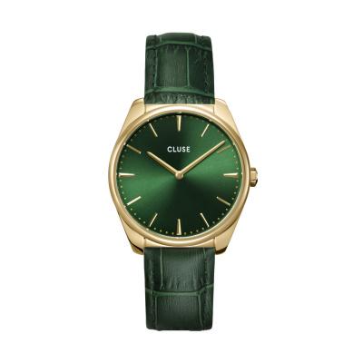 CLUSE Féroce Goudkleurig/Groen horloge CW0101212006