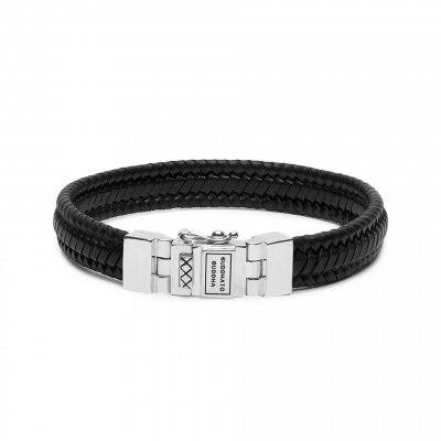 Buddha to Buddha Edwin Small Leather Black Armband 181BL-E (Lengte: 19.00-23.00 cm)