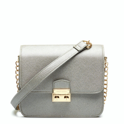 Violet Hamden Essential Bag Metallic Silver Mini Crossbody VH30004