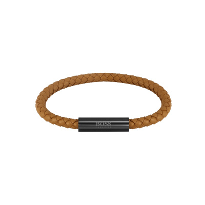 BOSS Braided Leather Armband HBJ1580153 (Lengte: 19.00 cm)