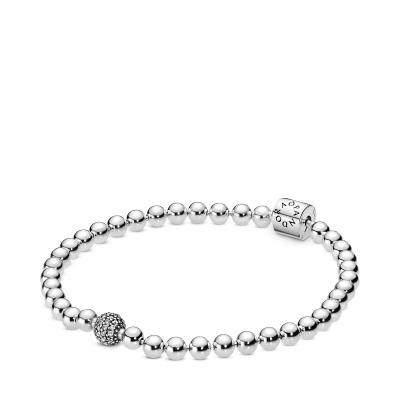 Pandora Stories 925 Sterling Zilveren Beaded Armband 598342CZ (Lengte: 17.00-21.00 cm)