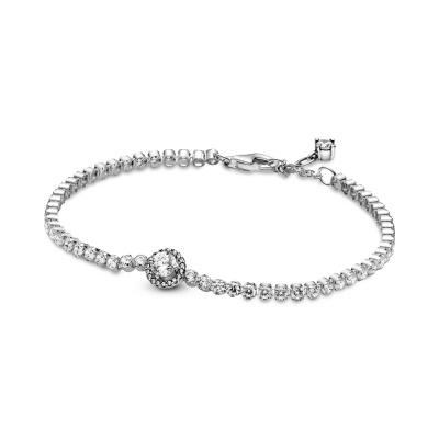 Pandora Timeless 925 Sterling Zilveren Sparkling Halo Tennis Armband 599416C01 (Lengte: 16.00 - 20.00)