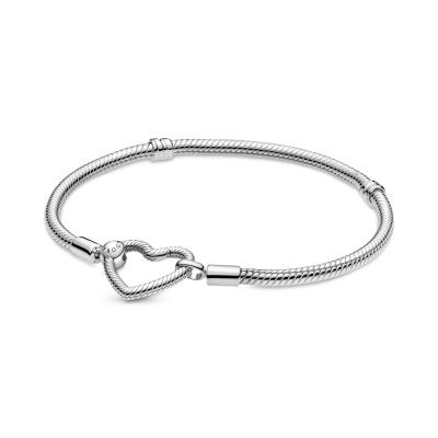 Pandora Moments Heart Closure Snake Armband 599539C00 (Lengte: 17.00 - 20.00 cm)