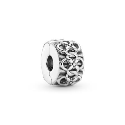 Pandora Passions 925 Sterling Zilveren Flower Pattern Clip Bedel 799316C00