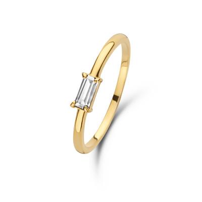 Isabel Bernard 14 karaat gouden Baguette Odie ring IB330020