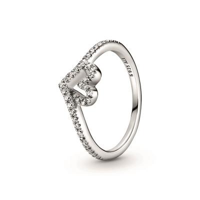 Pandora Wish 925 Sterling Zilveren Wishbone Heart Ring 199302C01
