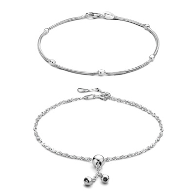 Selected Jewels Selected Gifts 925 sterling zilveren set enkelbandjes SJSET1021136
