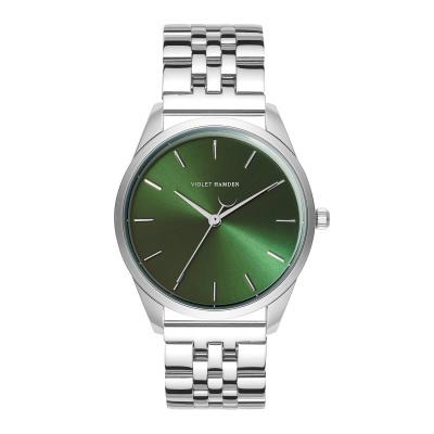 Violet Hamden Serene City Zilverkleurig/Groen horloge VH04008