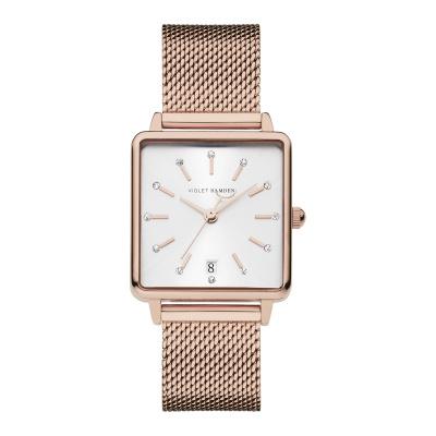 Violet Hamden Dawn Rosé Goud- en Zilverkleurig horloge (34 mm) VH09012
