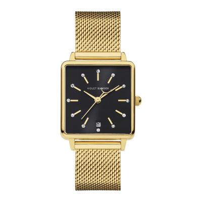 Violet Hamden Dawn Goudkleurig/Zwart horloge (34 mm) VH09015