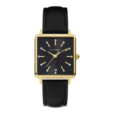 Violet Hamden Dawn Zwart horloge (34 mm) VH09018