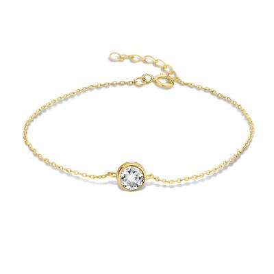 Violet Hamden Venus 925 Sterling Zilveren Goudkleurige Armband Met Geboortesteen VH320010 (JAN-DEC)