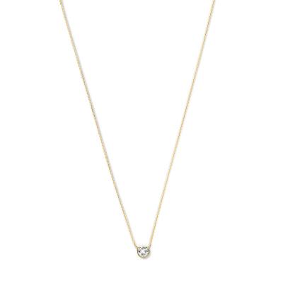 Violet Hamden Venus 925 Sterling Zilveren Goudkleurige Ketting Met Geboortesteen VH340010 (JAN-DEC)